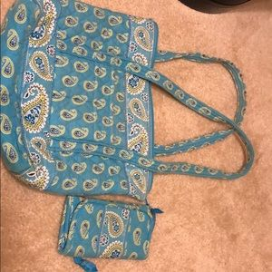 Matching tote and wallet